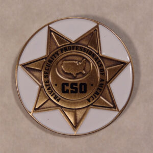 CSO Bronze Lapel Pin